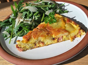 Spanish Tortilla with Bacon
