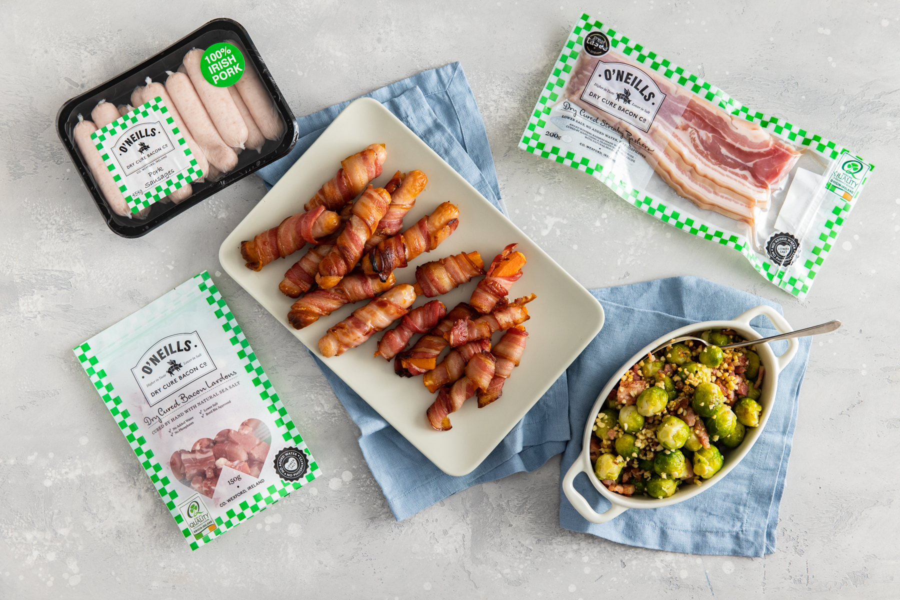 Christmas Sides with O'Neills Dry Cure Bacon